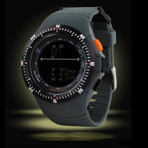 Creative Design Water Resistant Led Sports Watch - Black