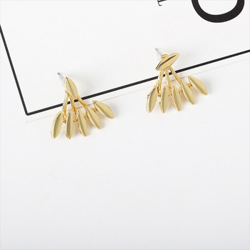 Bullet Pattern Gold Plated Ear Tops
