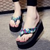 Thick Bottom Cross Strap Casual Female Sandals - Blue
