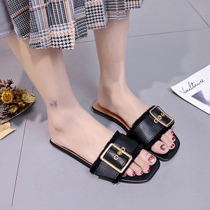 Summer Wear Lite Weight Flat Sandals - Black