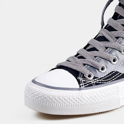 Eye Printed Long Laces Casual Student Wear Sneakers - Black