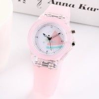 Waterproof Luminous Silicone Sports Kids Watches - Pink